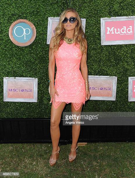 Carmen Electra attends The Music Lounge Presented By Mudd Op event at Ingleside Inn on April 12 2015 in Palm Springs California
