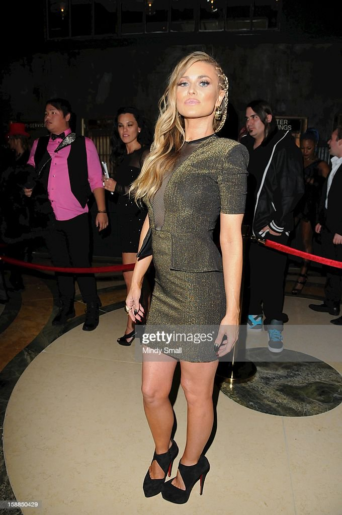 Carmen Electra celebrates New Year's Eve at The Act at The Shoppes at The Palazzo on December 31, 2012 in Las Vegas, Nevada.