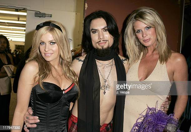 Carmen Electra Dave Navarro and Rachel Hunter during 12th Annual Race to Erase MS CoChaired by Tommy Hilfiger and Nancy Davis Backstage and Audience...