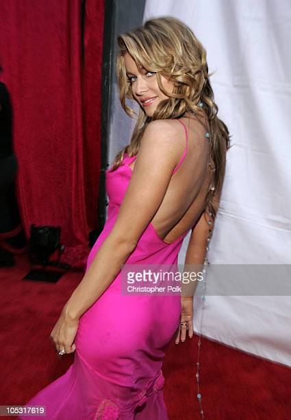 Carmen Electra during 2004 MTV Movie Awards Red Carpet at Sony Pictures Studios in Culver City California United States