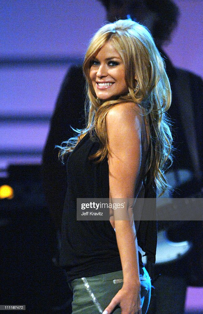 <a gi-track='captionPersonalityLinkClicked' href=/galleries/search?phrase=Carmen+Electra&family=editorial&specificpeople=171242 ng-click='$event.stopPropagation()'>Carmen Electra</a> during 'America's Top 40 Live' with Ryan Seacrest at CBS Studios Stage 46 in Los Angeles, California, United States.