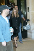 Carmen Electra during Carmen Electra and Anna Faris Sighting at the Plaza Athenee Hotel in Paris April 21 2006 at Plaza Athenee Hotel in Paris France