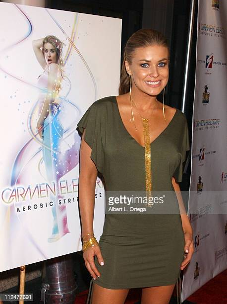 Carmen Electra during 'Carmen Electra's Aerobic Striptease' DVD Series Launch Party at The Spectrum Club in Santa Monica California United States