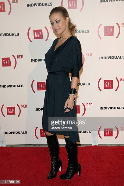 Carmen Electra during Gap Celebrates the Launch of 'Individuals' A Collection of Iconic Gap Portraits Arrivals at Eyebeam in New York City New York...