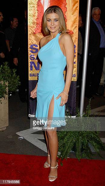 Carmen Electra during Hugh Hefner and Playboy Host Playboy's Fourth Annual Super Saturday Night Arrivals at The House of Hospitality in San Diego...