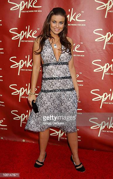 Carmen Electra during Launch of Spike TV at the Playboy Mansion at Playboy Mansion in Los Angeles California United States