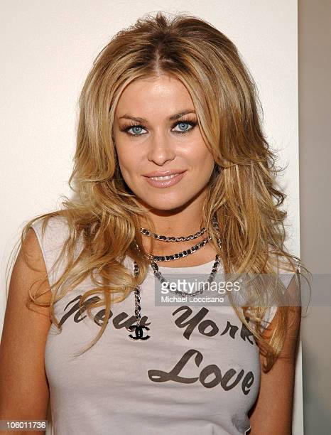 Carmen Electra during Olympus Fashion Week Spring 2007 Miss Sixty Arrivals at Guggenheim Museum in New York City New York United States