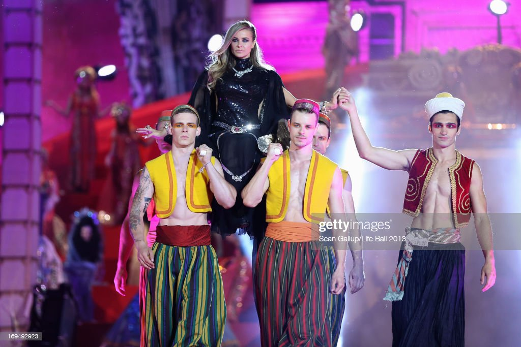 <a gi-track='captionPersonalityLinkClicked' href=/galleries/search?phrase=Carmen+Electra&family=editorial&specificpeople=171242 ng-click='$event.stopPropagation()'>Carmen Electra</a> during the 'Life Ball 2013 - Show' at City Hall on May 25, 2013 in Vienna, Austria.