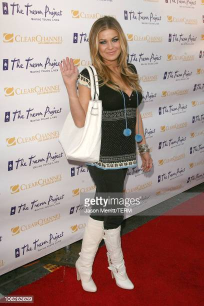 Carmen Electra during The Trevor Project's Cracked Xmas 9 Arrivals at The Wiltern LG in Hollywood California United States