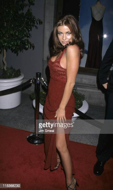 Carmen Electra during The WB's All Star Party for the Winter TCA Press Tour at Il Fornaio Restaurant in Pasadena California United States