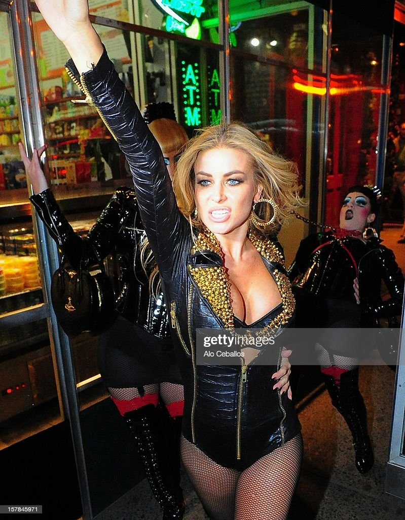 Carmen Electra is seen in Times Square at Streets of Manhattan on December 6, 2012 in New York City.