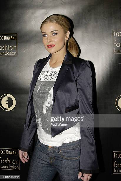 Carmen Electra poses at the Ecco Domani Fashion Foundation AfterParty on Friday February 8 2008 at Suzy Wong's Saki Lounge in New York City