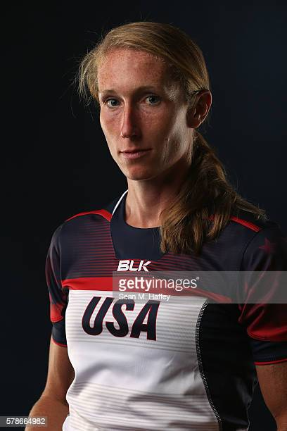 Carmen Farmer of the USA Rugby Womens Sevens Team poses for a portrait at the Olympic Training Center on July 21 2016 in Chula Vista California