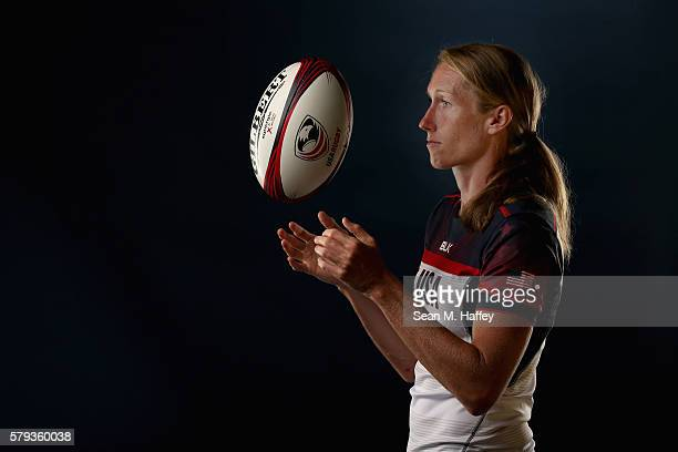 Carmen Farmer of the USA Rugby Women's Sevens Team poses for a portrait at the Olympic Training Center on July 21 2016 in Chula Vista California