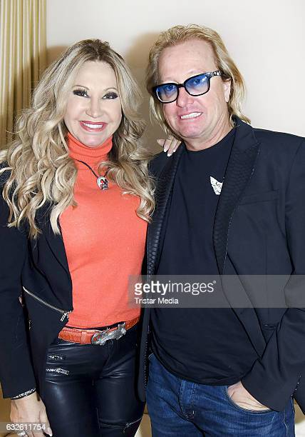 Carmen Geiss and Robert Geiss are seen during a promotion for their new television show 'Schatz der Geissens' on January 24 2017 in Berlin Germany