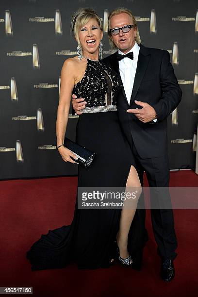 Carmen Geiss and Robert Geiss arrive at the 'Deutscher Fernsehpreis 2014' at Coloneum on October 2 2014 in Cologne Germany