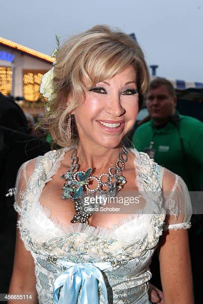 Carmen Geiss attends the SonnenklarTV reception during Oktoberfest at Winzerer Faehndl/Theresienwiese on October 4 2014 in Munich Germany