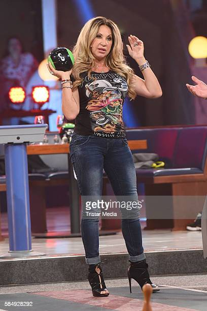 Carmen Geiss during the tv show 'Der grosse RTL IIPromiKegelabend' on July 31 2016 in Winterberg Germany