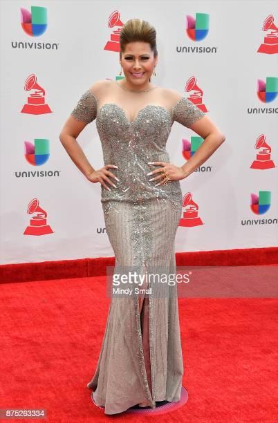 Carmen Jara attends the 18th Annual Latin Grammy Awards at MGM Grand Garden Arena on November 16 2017 in Las Vegas Nevada
