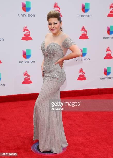 Carmen Jara attends the 18th Annual Latin Grammy Awards on November 16 2017 in Las Vegas Nevada