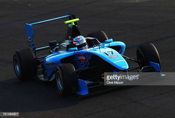Carmen Jorda of Ocean Racing Technology drives in the GP3 series prior to practice for the Italian Formula One Grand Prix at the Autodromo Nazionale...