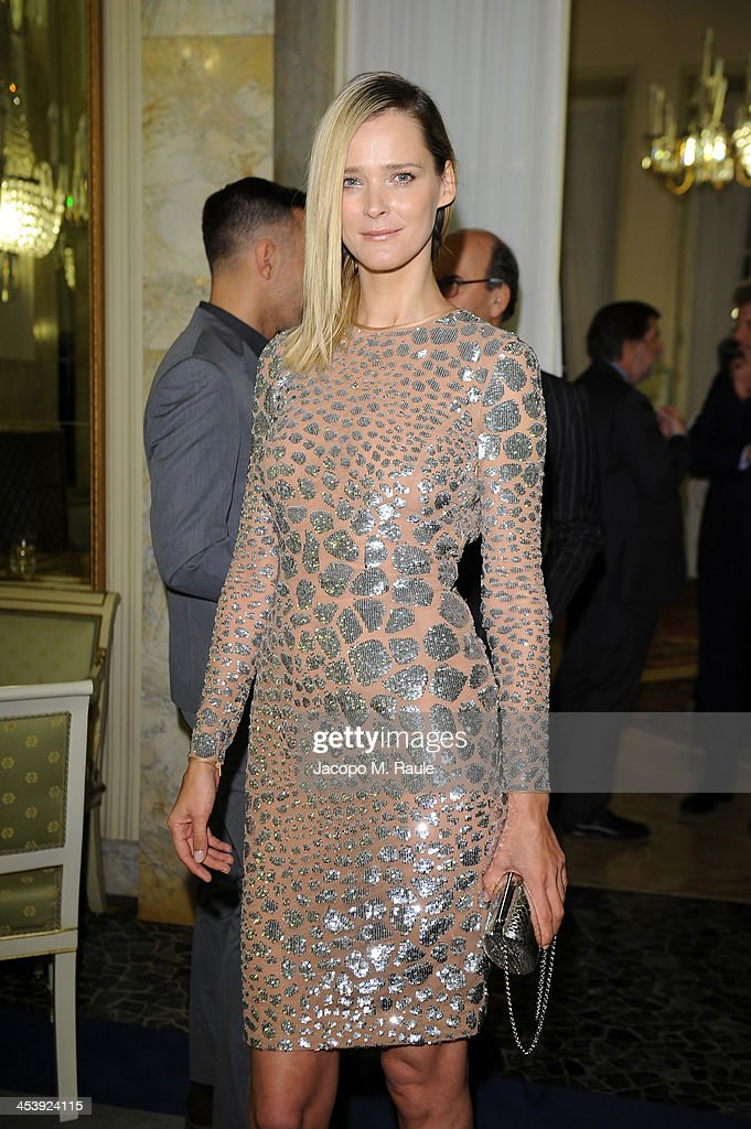 Carmen Kass attends Michael Kors to celebrate Milano Cocktail on December 4 2013 in Milan Italy