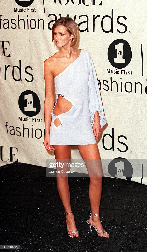 Carmen Kass during 2000 VH1 Vogue Fashion Awards Arrivals at Madison Square Garden in New York City New York United States
