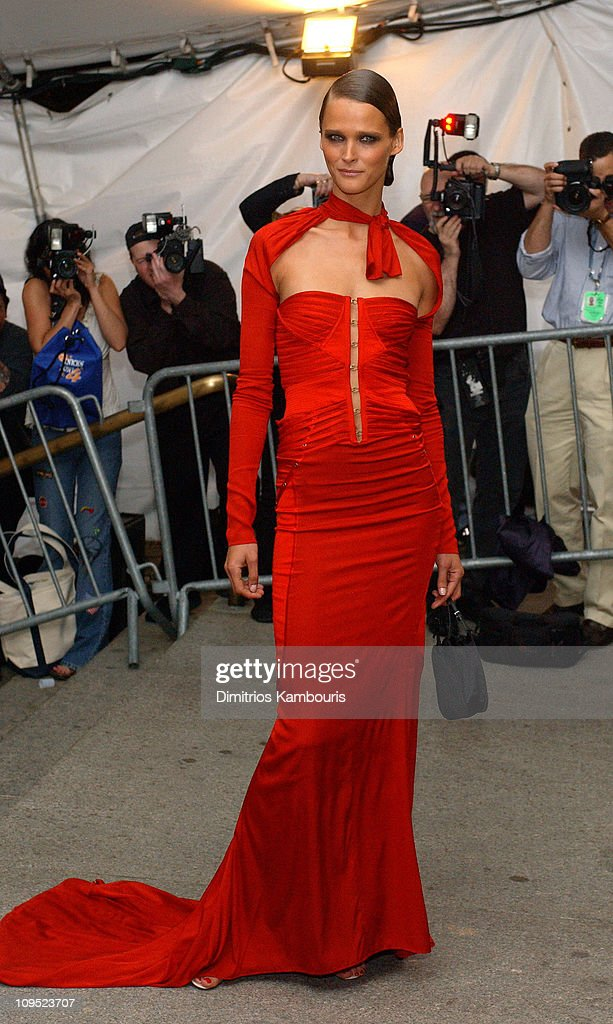 Carmen Kass during Costume Institute Benefit Dance 'Party of the Year' Arrivals at Metropolitan Museum of Art in New York City New York United States