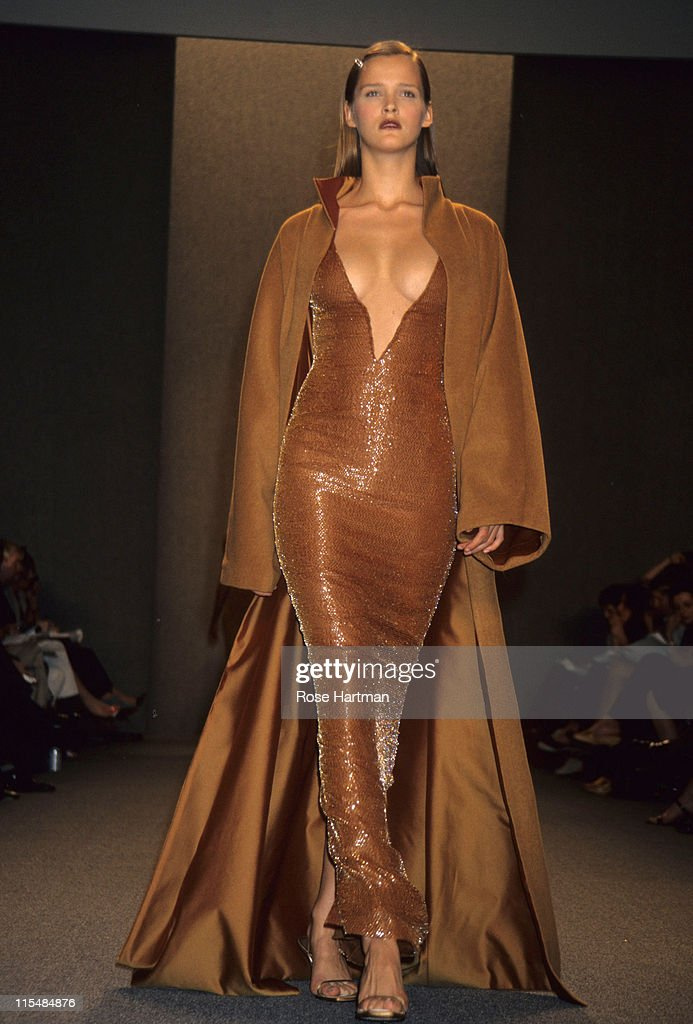 Carmen Kass during Halston Fashion Show in New York City in New York City New York United States