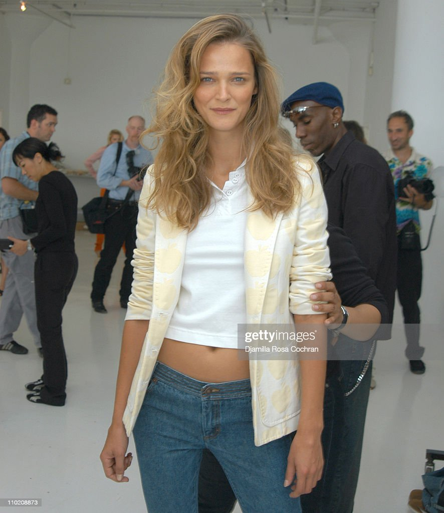 Carmen Kass during Olympus Fashion Week Spring 2005 Luella Bartley Front row and Backstage at Boylan Studios in New York City New York United States