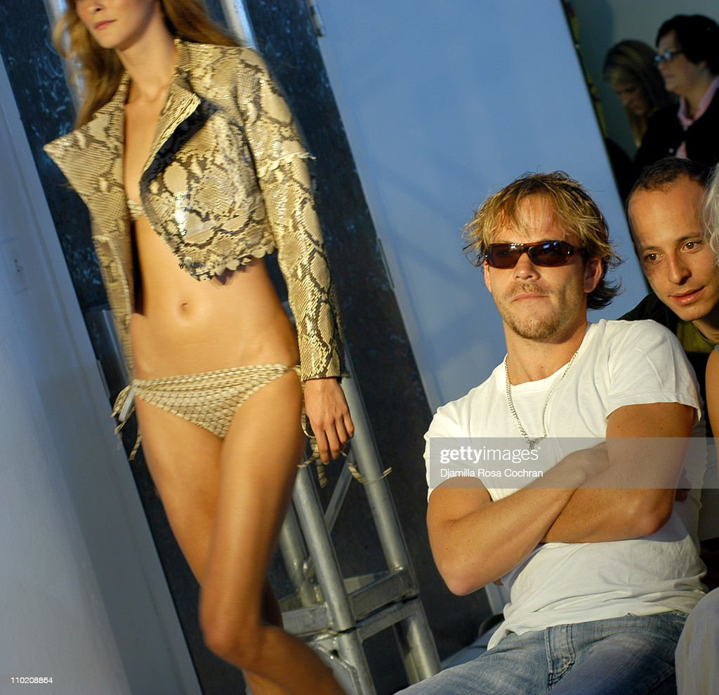 Carmen Kass wearing Luella Bartley Spring 2005 with Stephen Dorff