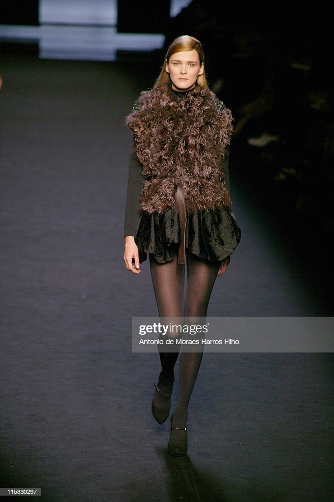 Carmen Kass wearing Sophia Kokosalaki Fall/Winter 2007