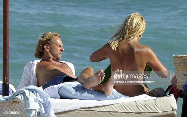 Carmen Lomana and Edmond Fokker are seen on August 19 2014 in Marbella Spain