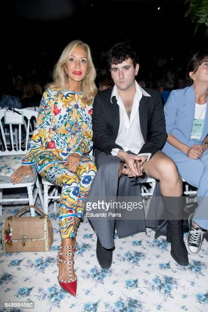 Carmen Lomana and Palomo Spain are seen at the Jorge Vazquez show during MercedesBenz Fashion Week Madrid Spring/Summer 2018 at Ifema on September 18...