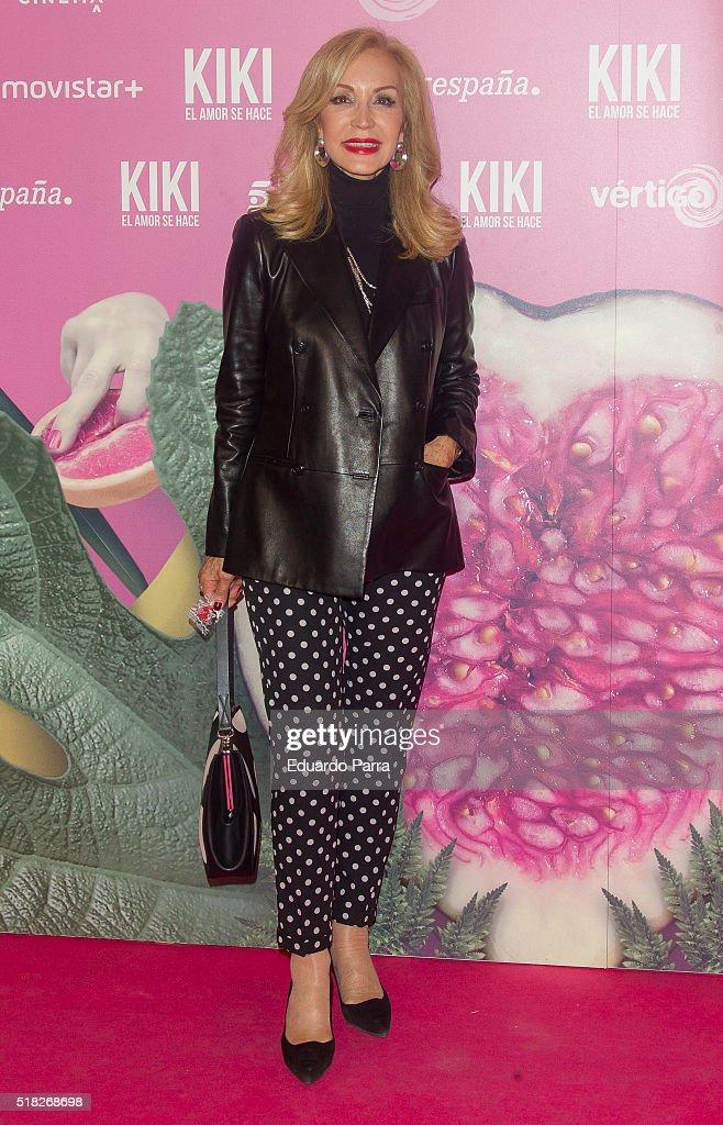Carmen Lomana attends 'Kiki, el amor se hace' premiere at Capitol cinema on March 30, 2016 in Madrid, Spain.