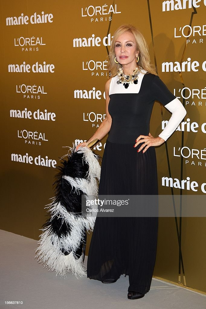 Carmen Lomana attends Marie Claire Prix de la Moda Awards 2012 at the French Embassy on November 22, 2012 in Madrid, Spain.