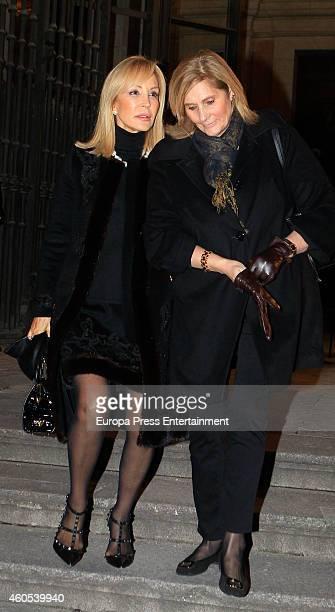 Carmen Lomana attends memorial service for Duchess of Alba on December 15 2014 in Madrid Spain