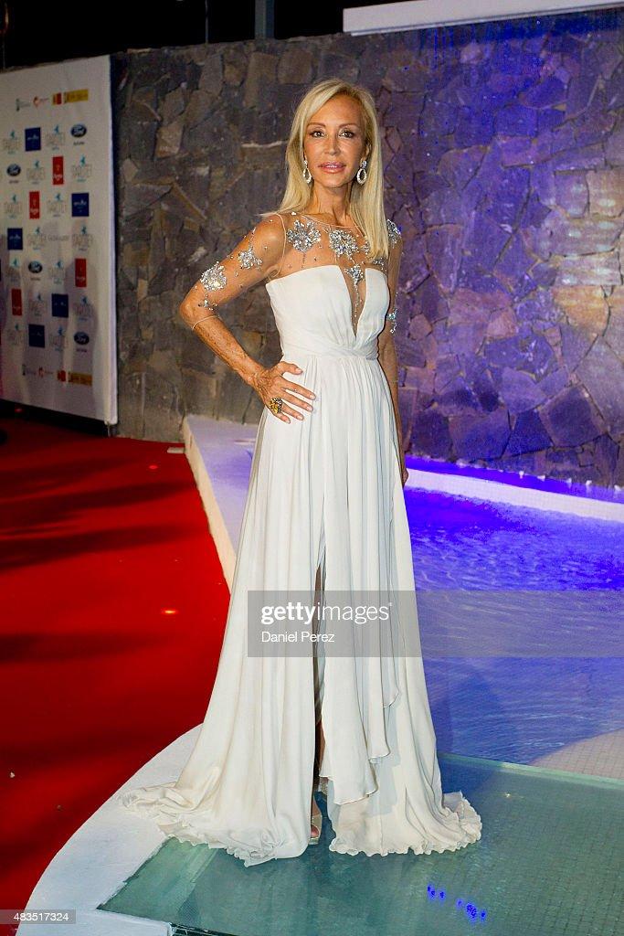 Carmen Lomana attends Starlite Gala on August 9, 2015 in Marbella, Spain.