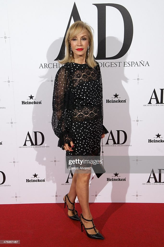 <a gi-track='captionPersonalityLinkClicked' href=/galleries/search?phrase=Carmen+Lomana&family=editorial&specificpeople=5840157 ng-click='$event.stopPropagation()'>Carmen Lomana</a> attends the AD Awards 2014 at the Santa Coloma Palace on February 27, 2014 in Madrid, Spain.