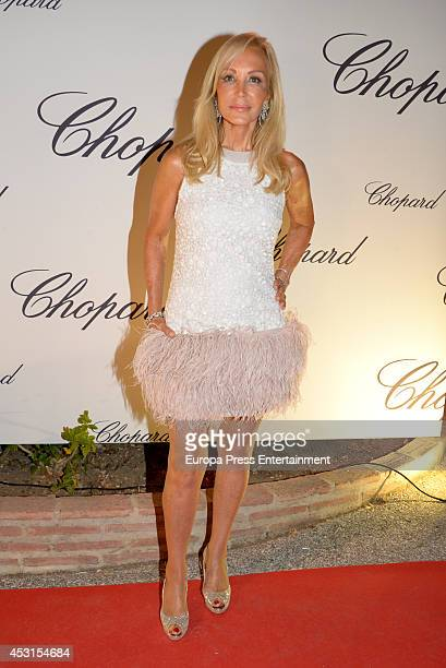 Carmen Lomana attends the Chopard Party at the Babilonia Restaurant on August 3 2014 in Marbella Spain