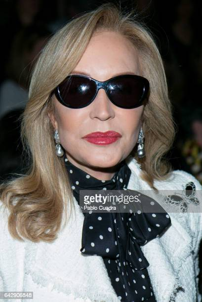Carmen Lomana attends the front row of Malne show during Mercedes Benz Fashion Week Madrid Autumn / Winter 2017 at Ifema on February 19 2017 in...