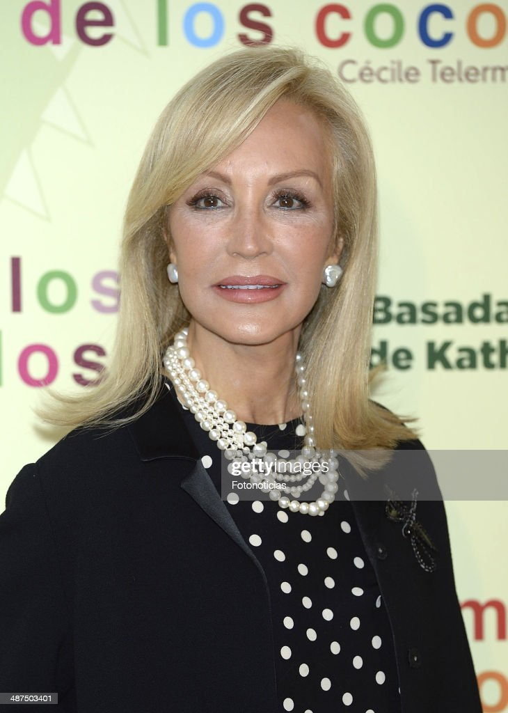 Carmen Lomana attends the 'Los Ojos Amarillos de los Cocodrilos' premiere the Academia del Cine on April 30, 2014 in Madrid, Spain.