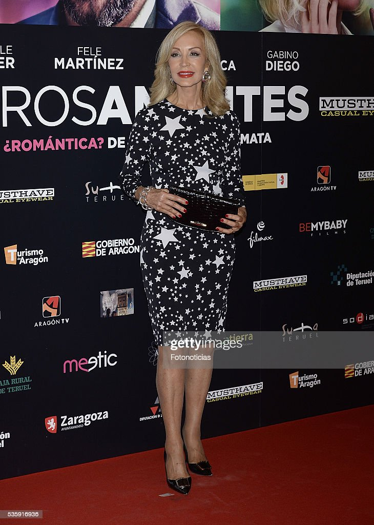 Carmen Lomana attends the 'Nuestros Amantes' premiere at Palafox cinema on May 30, 2016 in Madrid, Spain.