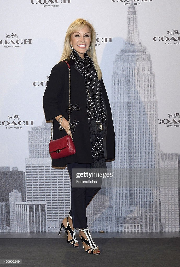 <a gi-track='captionPersonalityLinkClicked' href=/galleries/search?phrase=Carmen+Lomana&family=editorial&specificpeople=5840157 ng-click='$event.stopPropagation()'>Carmen Lomana</a> attends the opening of Coach boutique on November 20, 2013 in Madrid, Spain.