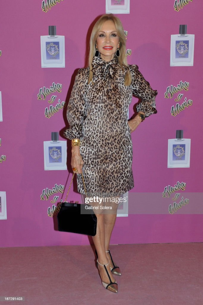 Carmen Lomana attends the presentation of the new fragrance from Alaska and Mario Vaquerizo in Madrid on November 7, 2013 in Madrid, Spain.