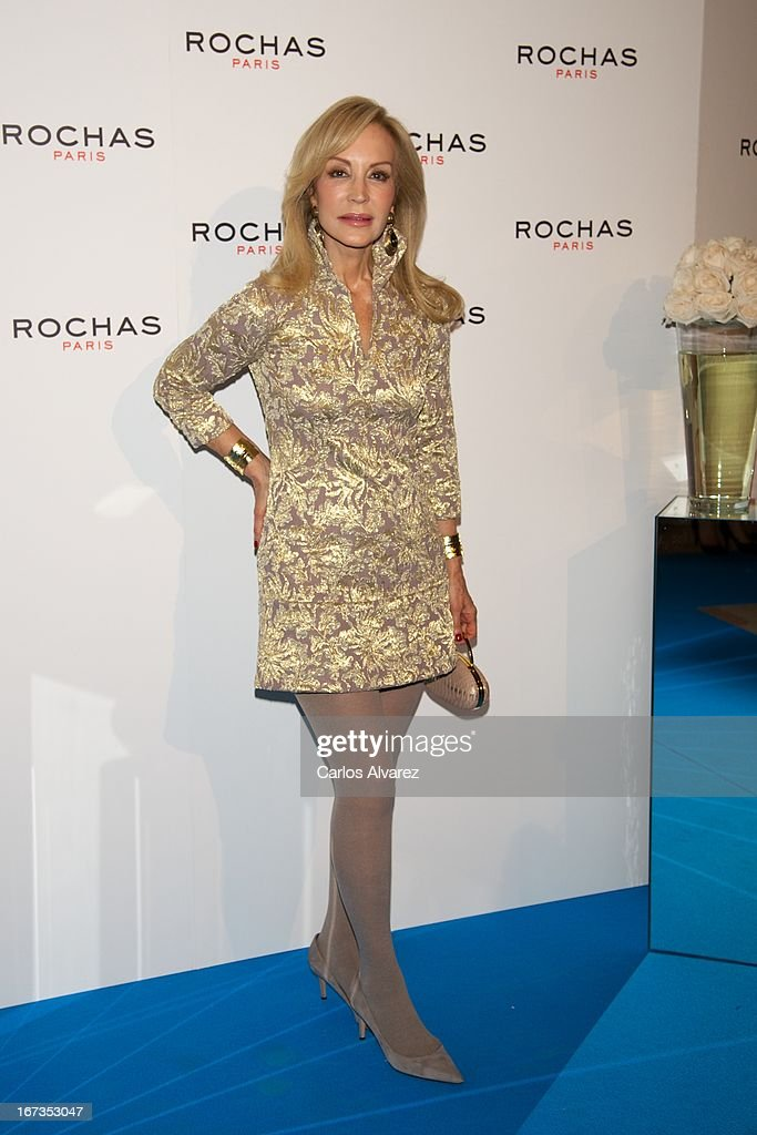 Carmen Lomana attends the Rochas event at the French embassy on April 24, 2013 in Madrid, Spain.
