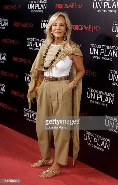 Carmen Lomana attends 'Todos Tenemos Un Plan' premiere at Capitol cinema on September 5 2012 in Madrid Spain