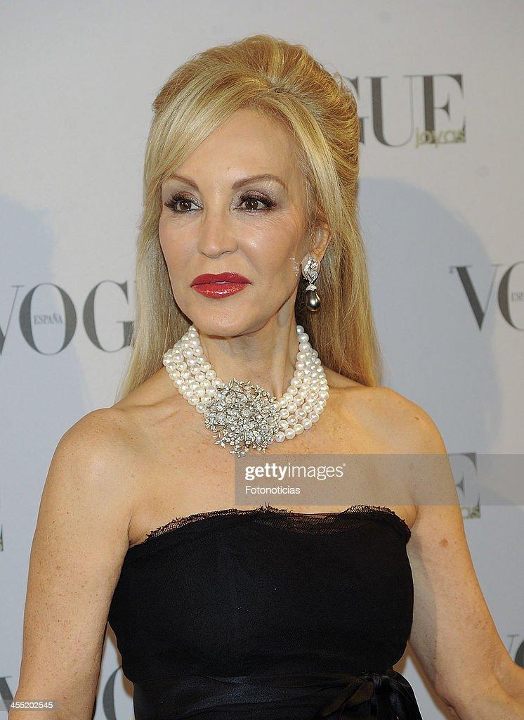 Carmen Lomana attends Vogue Joyas 2013 Awards at the Palacio de la Bolsa on December 11, 2013 in Madrid, Spain.