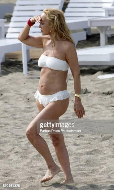 Carmen Lomana is seen on April 18 2017 in Marbella Spain