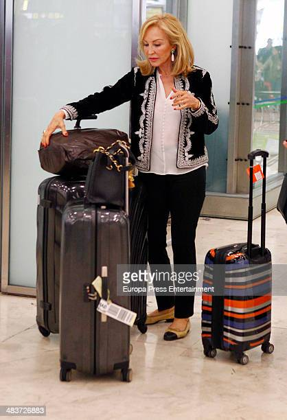 Carmen Lomana is seen on April 9 2014 in Madrid Spain